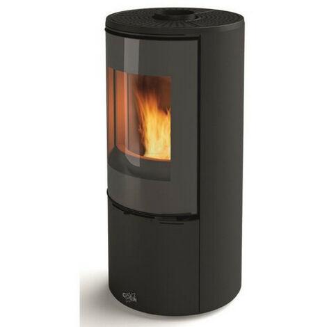 poêle à bois fonte 8kw noir - 400220noir - godin