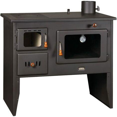 Poêle à bois - Modèle Prity W12 PM pour la cuisine. Fabriqué en fonte massive avec four inclus