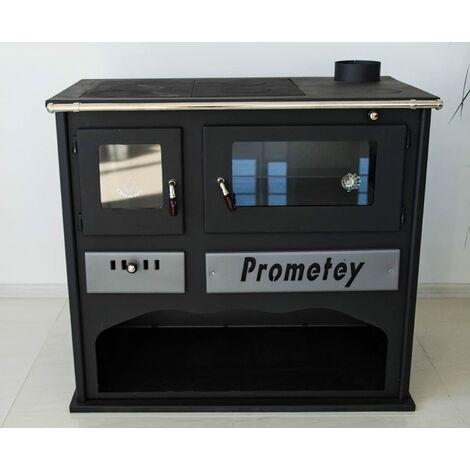 """Poêle à bois. Puissance de chauffage de 1 kW. Poêle à combustible solide avec four. Modèle """"Prometey Praktik LUX"""""""