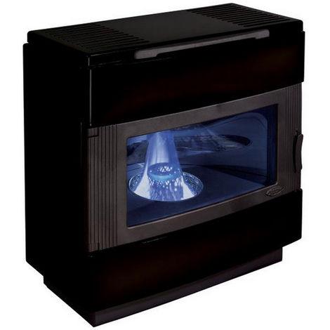 poêle à fioul 8kw noir brillant - 3807nb - godin