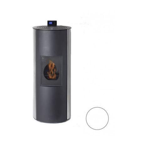 Poêle à fioul Bioéthanole - Fioul - Flamin - 8/10KW - Acier - Blanc
