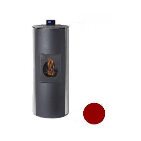 Poêle à fioul Bioéthanole - Fioul - Flamin - 8/10KW - Acier - Bordeaux