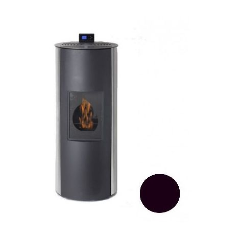 Poêle à fioul Bioéthanole - Fioul - Flamin - 8/10KW - Acier - Noir