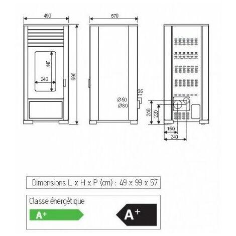 Poêle à granulé LEON 7kw Access