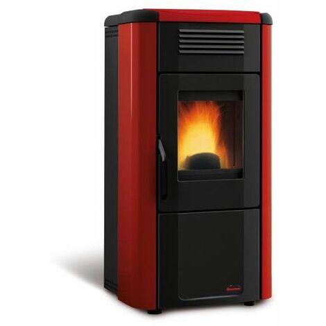 Poêle à granulés 10 kW en acier parchemin surface chauffé 295 m³ Viviana Evo