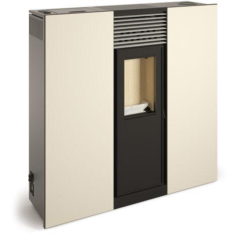Poêle à granulés canalisable compact de couloir PHOENIX 10kW Blanc Perlé
