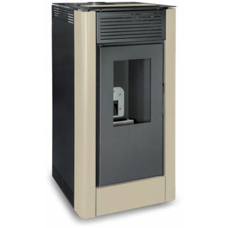 Poêle à granulés chaudière hydraulique ALTEA HYDRO 18kW Blanc Perlé