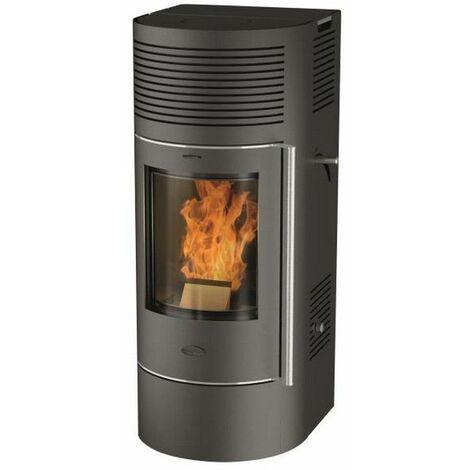 poêle à granulés de bois 6kw noir - r2053 - fireplace