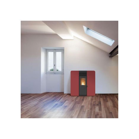 POÊLE A GRANULES -FIRST SLIM 8KW (canalisable) Blanc