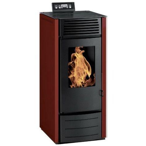 Poêle à granules MARINA 10KW Noir| Réservoir 25 Kgs | Option Wifi ou télécommande