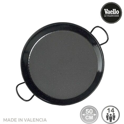 Poêle à paella acier émaillé ø50m (14 personnes). vaello