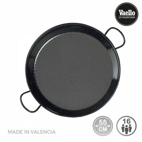 Poêle à paella acier émaillé ø55m (16 personnes). vaello