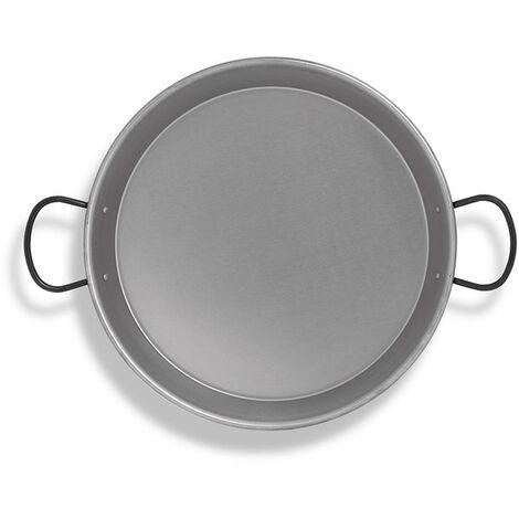 Poêle à paella en acier poli pour induction et plaque vitrocéramique ø36cm (7 personnes) EDM 76967