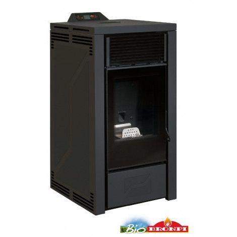 Poêle à pellets HYDRO ALBERTA 16 kW noir - Noir