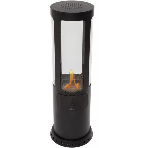 Poêle au bioéthanol avec vision à 360° et flamme verticale
