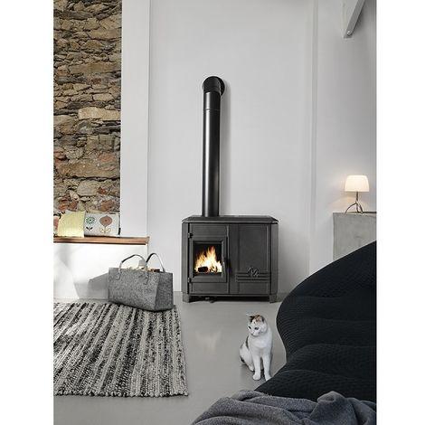 poele mixte buches et granul s carolo mix anthracite 6495 44. Black Bedroom Furniture Sets. Home Design Ideas