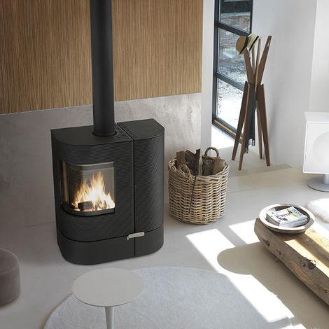 poele mixte buches et granul s mix anthracite 6196 44. Black Bedroom Furniture Sets. Home Design Ideas