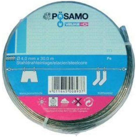 Pösamo Drahtseil-Universalleine PVC-ummantelt 4 mmx30 m