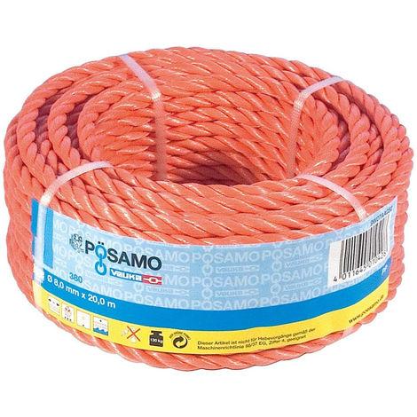 Pösamo PP-Seil 12 mm gedreht orange SB-Ring 20 m