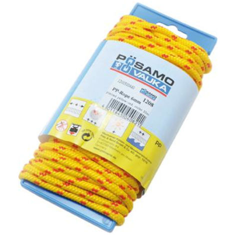 Pösamo PP-Seil 6,0 16x-geflochten gelb/rot LG-HASPEL 20 m