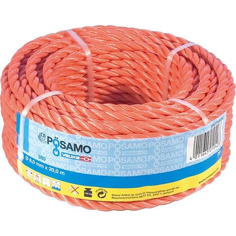 PÖSAMO PP Seil gedr. orange 12,0mmx20m in Ringen