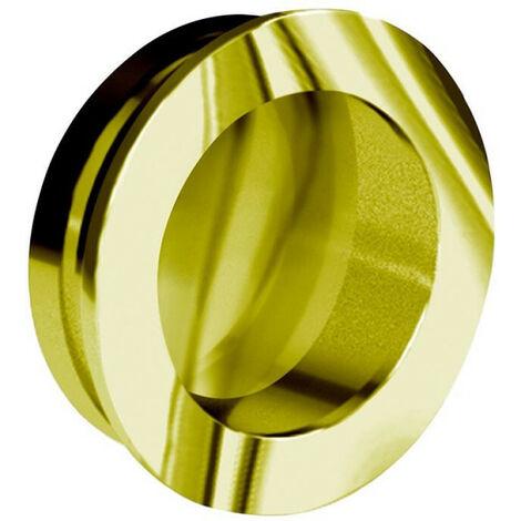 Poignée cuvette ronde diamètre 40 mm - métal doré