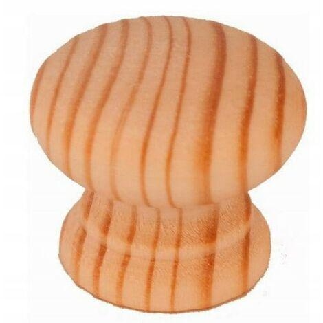 Poignée de bouton de meuble en bois pour armoires