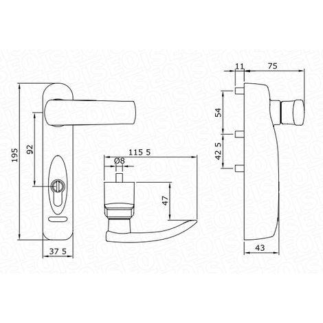 Poignée de commande électronique Trim Tronic ISEO - câble alimentation 5m - gris métallisé - 94091307E