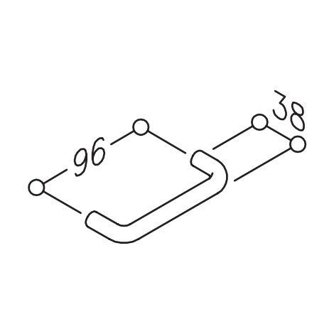 Poignée de meuble 75.1.96 NORMBAU - Nylon - Entraxe 96 mm - Ø 12mm - Blanc 19 - 307210