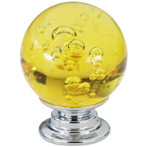 "main image of ""Poignee de porte bouton tiroir tire meubles poignee 30mm cristal verre aluminium Base tiroir armoire porte poignee armoire materiel"""