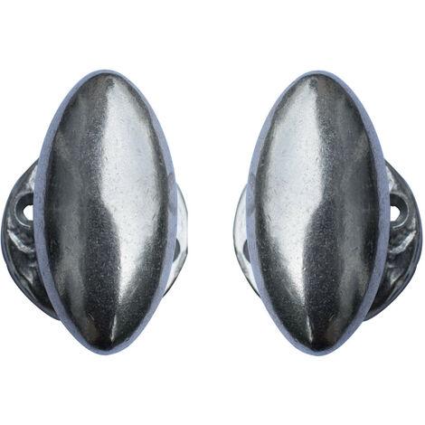Poignée de porte ovale alu naturel