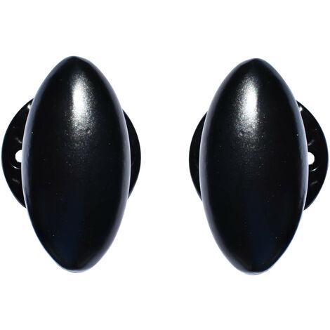 Poignée de porte ovale alu noir