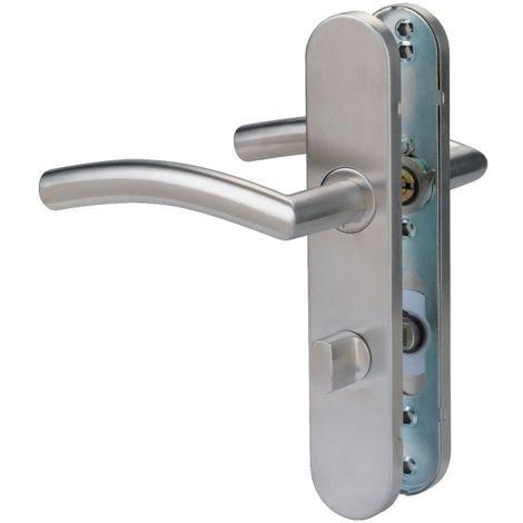 Poignée de porte sur plaque inox - C19 - Normbau