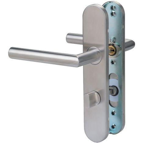 Poignée de porte sur plaque inox - V19 - Normbau