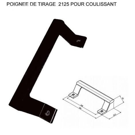 Poignée de tirage ALMA pour coulissant - Ral 9005 Noir - 2125-9005