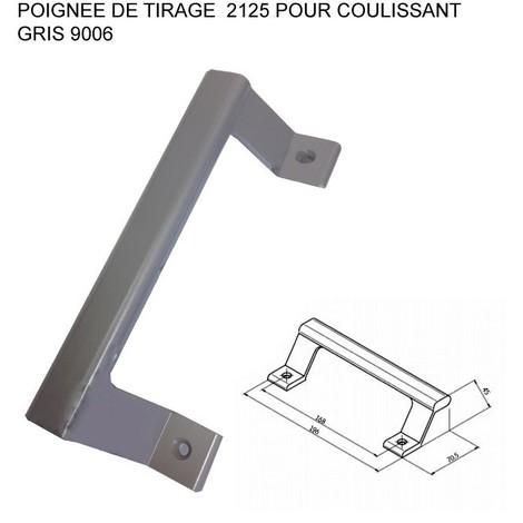 43a5283a3f2607 Poignée de tirage ALMA pour coulissant - Ral 9006 Gris - 2125-9006 ...