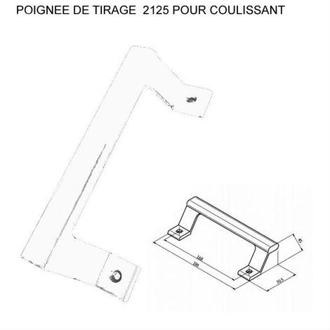 Poignée de tirage ALMA pour coulissant - Ral 9010 Blanc - 2125-9010