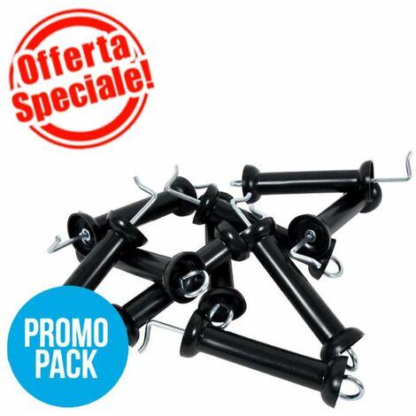 Poignée isolante professionnelle Gallagher pression en couleur noire dans un paquet de 10 pièces