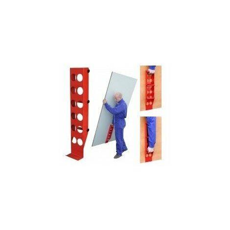 Poignee porte plaque et panneau3 hauteurs 620mm