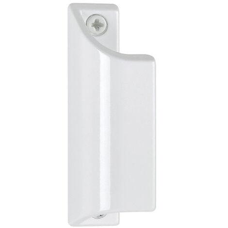 "main image of ""Poignée porte-fenêtre aileron profilée 430 HOPPE L.90 mm - Alu laqué blanc 9010 - 517084"""