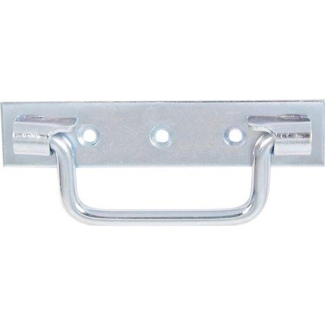 Zingu/é blanc 160 mm Poign/ée sur platine bouts carr/és