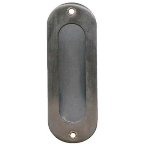Poignées cuvettes ovale à encastrer - Inox Brossé