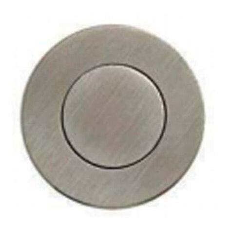 Poignées cuvettes ronde à encastrer - Avec platine poussoir - Diamètre 55 mm - Inox Brossé