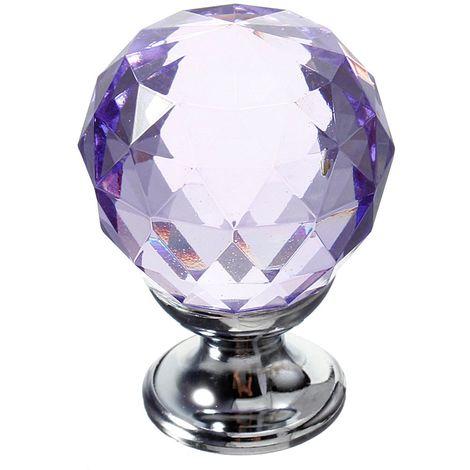 Poign¨¦es de porte en verre cristal de 30 mm tiroirs de meubles de cuisine ¨¤ tiroir