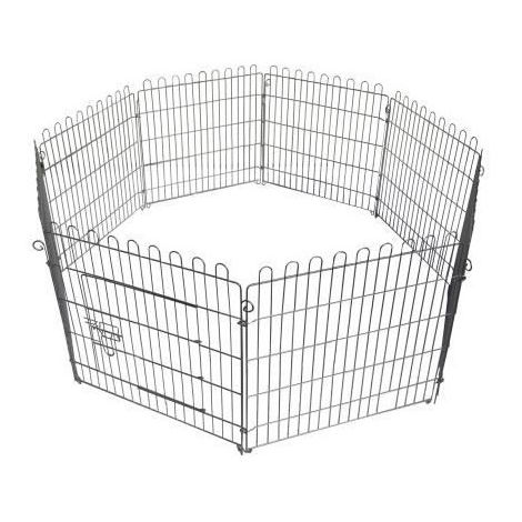 POILS & PLUMES Enclos Bunny 2 en acier 1,20x1,20x0,6 m - Pour chien