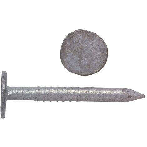 """main image of """"Pointe tête plate extra large en acier galvanisé (boîte) - plusieurs modèles disponibles"""""""