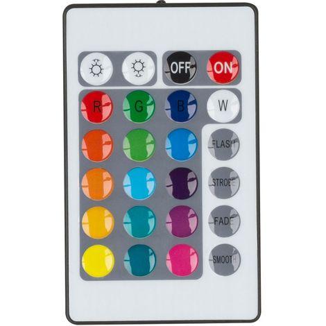 Pointe de terre à LED RVB, lumière enfichable, télécommande, changeur de couleur