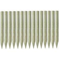 Pointed Fence Posts 15 pcs FSC Impregnated Pinewood 4x100cm