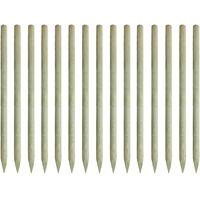 Pointed Fence Posts 15 pcs FSC Impregnated Pinewood 4x197cm