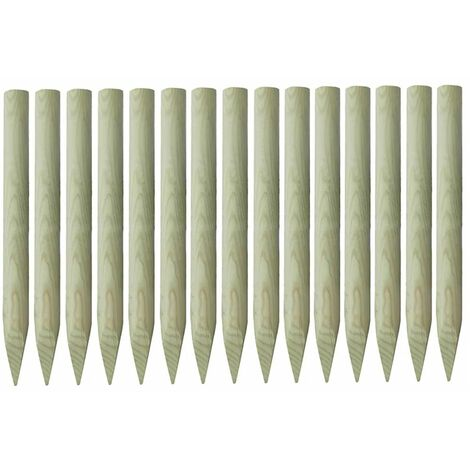 Pointed Fence Posts 15 pcs Impregnated Pinewood 4x100 cm